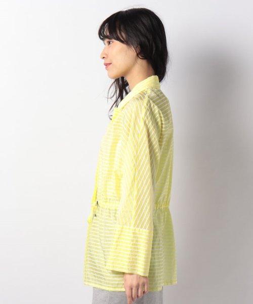 LAPINE BLANCHE(ラピーヌ ブランシュ)/シルクコットン ボーダー羽織りブラウス/120660_img01