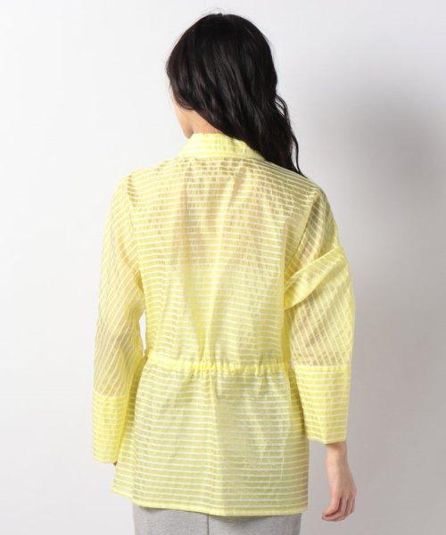 LAPINE BLANCHE(ラピーヌ ブランシュ)/シルクコットン ボーダー羽織りブラウス/120660_img02
