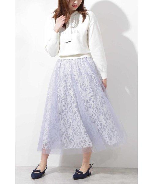 PROPORTION BODY DRESSING(プロポーション ボディドレッシング)/◆チュールレーススカート/1219120900_img09