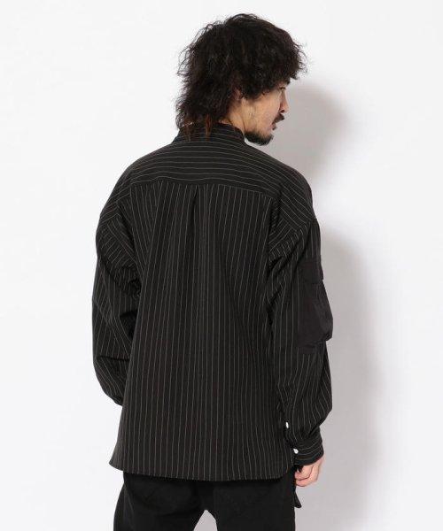 LHP(エルエイチピー)/DankeSchon/ダンケシェーン/ストライプBIGシャツ/6016191057-60_img02