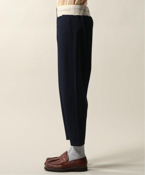 JOURNAL STANDARD relume Men's(ジャーナルスタンダード レリューム メンズ)/DROLE DE MONSIEUR / ドロールドムッシュ  Cropped Textured Pants/19030465002810_img03