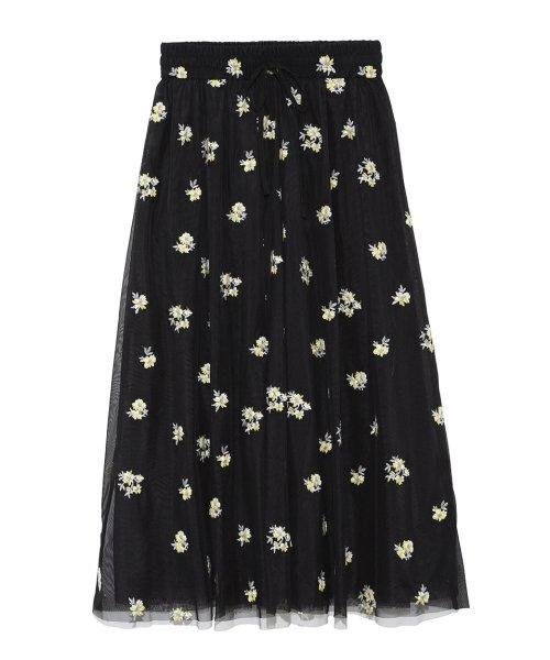 Mila Owen(ミラオーウェン)/刺繍入りチュールスカート/09WFS191072_img01