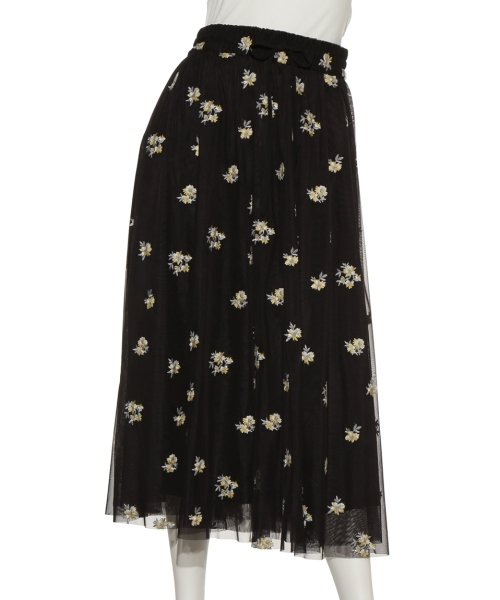 Mila Owen(ミラオーウェン)/刺繍入りチュールスカート/09WFS191072_img02