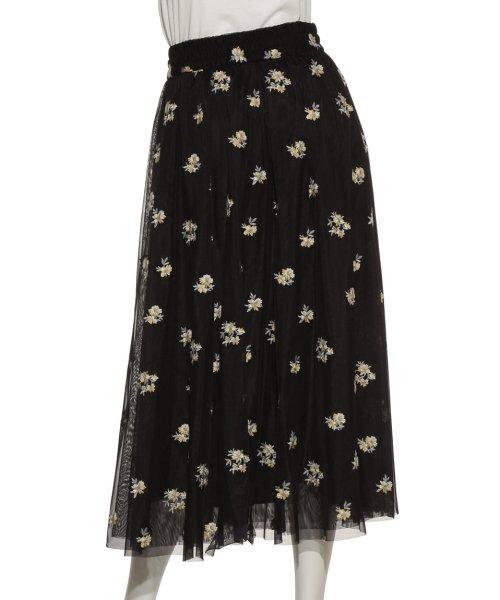 Mila Owen(ミラオーウェン)/刺繍入りチュールスカート/09WFS191072_img03