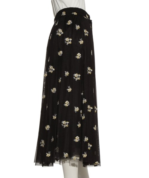 Mila Owen(ミラオーウェン)/刺繍入りチュールスカート/09WFS191072_img04