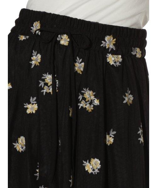 Mila Owen(ミラオーウェン)/刺繍入りチュールスカート/09WFS191072_img05