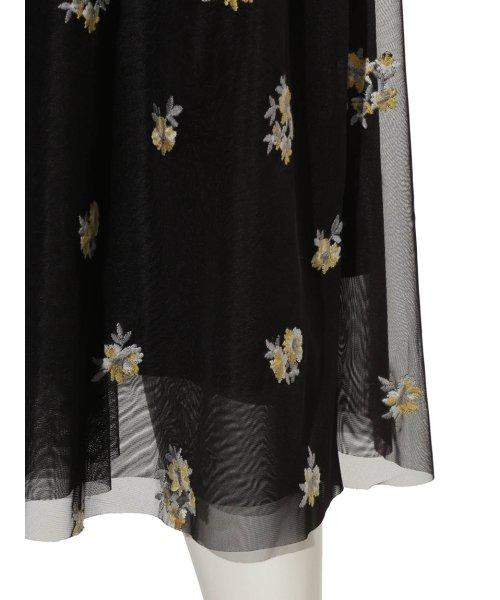 Mila Owen(ミラオーウェン)/刺繍入りチュールスカート/09WFS191072_img06