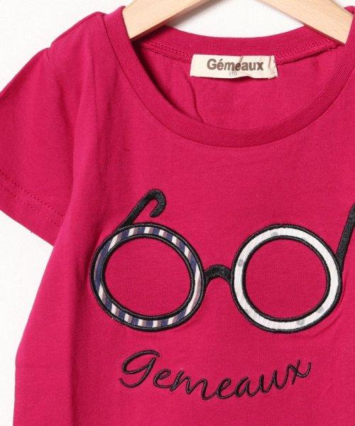 Gemeaux(ジェモー)/メガネアップリケ半袖Tシャツ/GA8310_img02