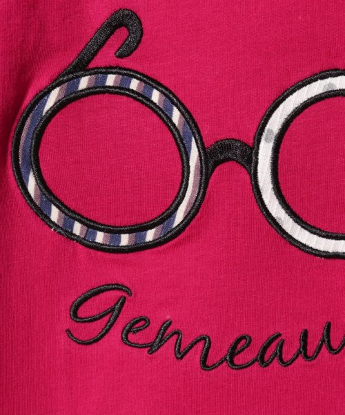 Gemeaux(ジェモー)/メガネアップリケ半袖Tシャツ/GA8310_img04