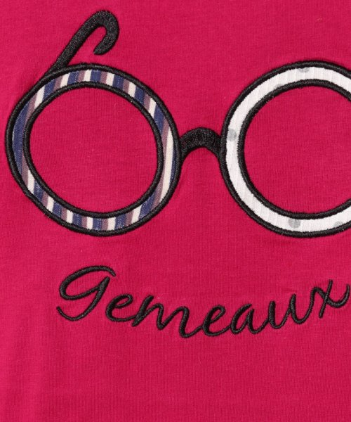 Gemeaux(ジェモー)/メガネアップリケ半袖Tシャツ(150cm)/GA8310150_img04