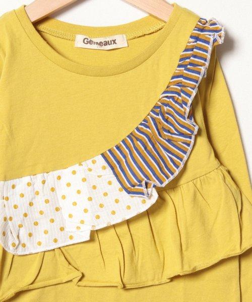 Gemeaux(ジェモー)/切替フリル長袖Tシャツ/GA8315_img02
