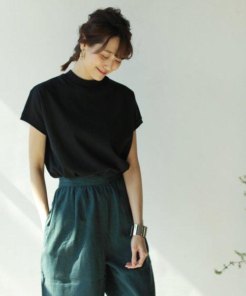 coen(コーエン)/【WEB限定カラーに新色ブラウン登場】USAコットンハイネックTシャツ/76256009019_img09