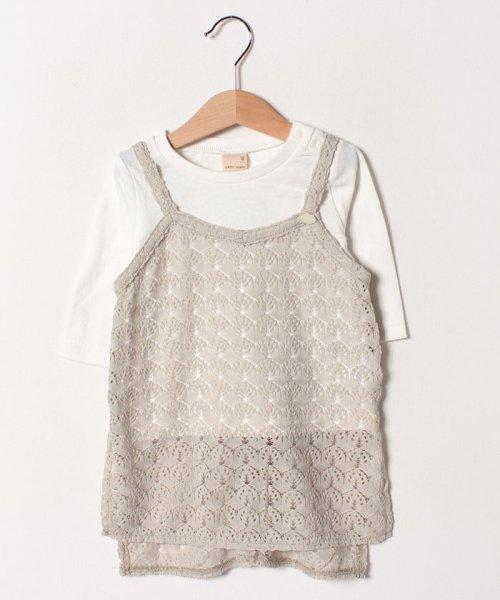 petit main(プティマイン)/透けレースロングキャミソール×Tシャツセット/9691231_img01