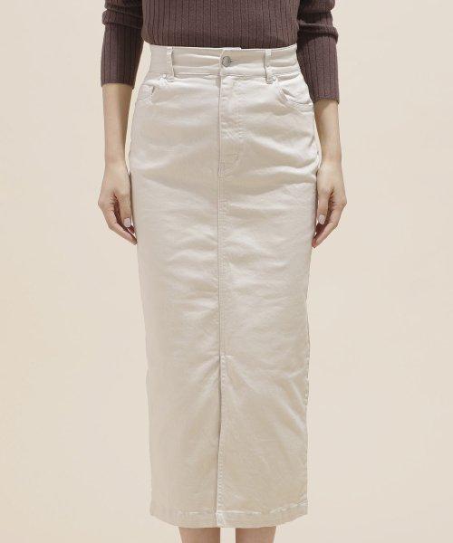 nano・universe(ナノ・ユニバース)/I-line slim fit skirt/6699130009_img07