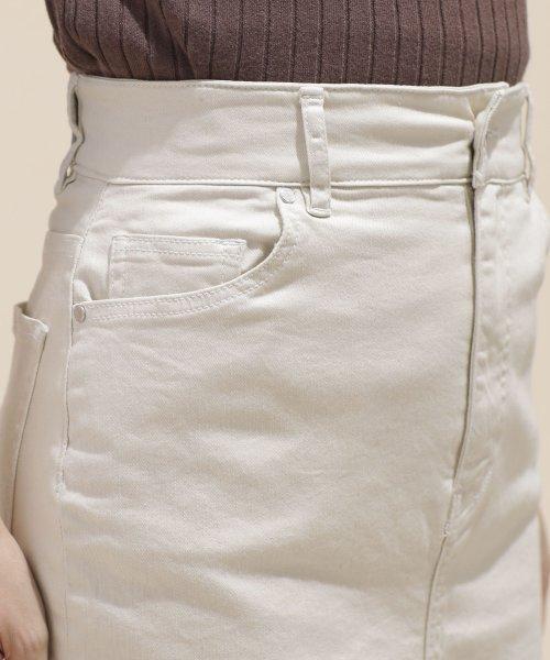 nano・universe(ナノ・ユニバース)/I-line slim fit skirt/6699130009_img13