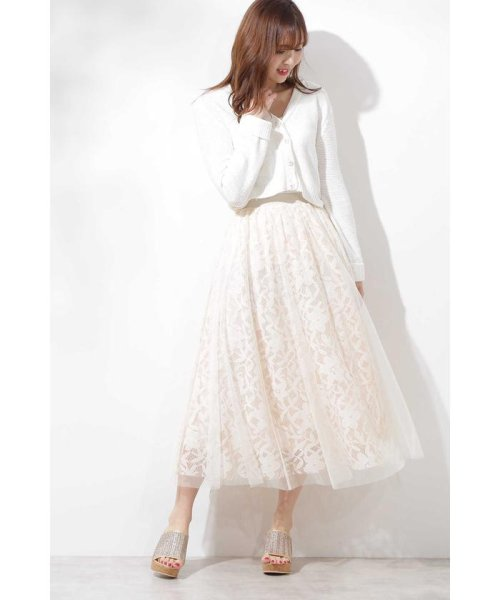 PROPORTION BODY DRESSING(プロポーション ボディドレッシング)/◆チュールレーススカート/1219120900_img16