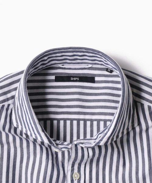 SHIPS MEN(シップス メン)/SC: レノクロス ストライプ セミワイドカラーシャツ/111100304_img04