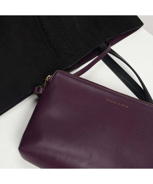 CHARLES & KEITH(チャールズ アンド キース)/ウェーブディテール トートバッグ / Weave Detail Tote Bag (Black)/CH1328AW11050_img02