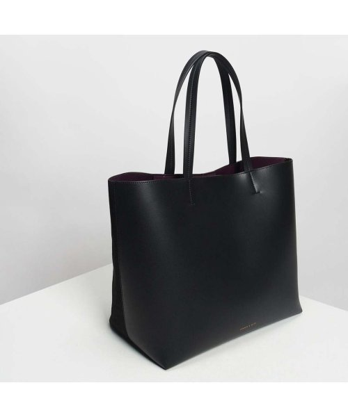 CHARLES & KEITH(チャールズ アンド キース)/ウェーブディテール トートバッグ / Weave Detail Tote Bag (Black)/CH1328AW11050_img03