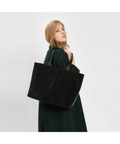 CHARLES & KEITH(チャールズ アンド キース)/ウェーブディテール トートバッグ / Weave Detail Tote Bag (Black)/CH1328AW11050_img05