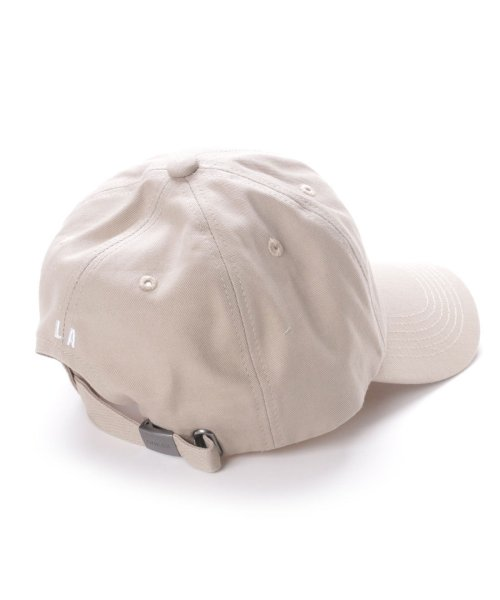 GUESS(ゲス)/ゲス GUESS TRIANGLE LOGO CANVAS 6 PANEL CAP (BEIGE)/GU1432EU11528_img01