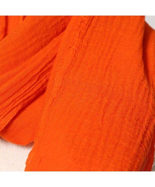 KANKAN(カンカン)/カンカン KANKAN ウールボイル無地ショール (オレンジ)/KA1151DW05635_img01