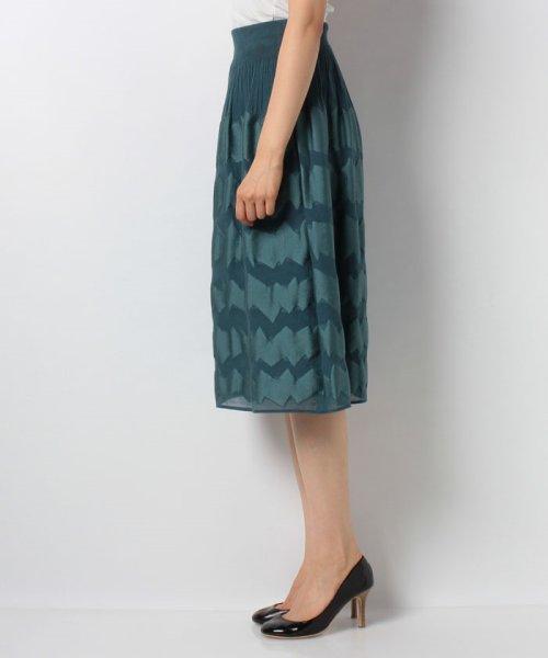 LAPINE BLANCHE(ラピーヌ ブランシュ)/シャーリングパネルジャカードスカート/159025_img01