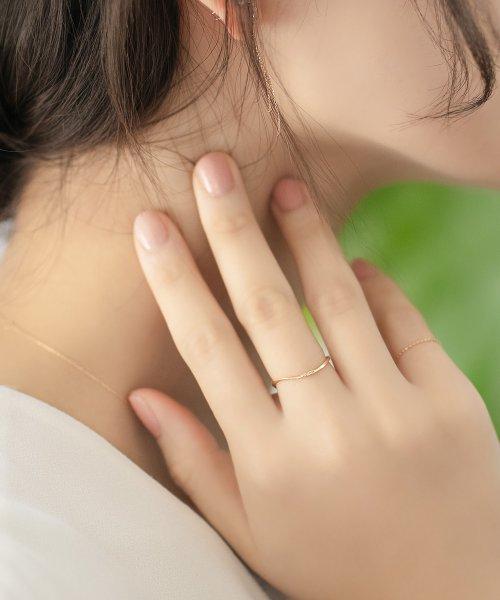 Phoebe(フィービィー)/【K10】ツイスティーダイヤモンドリング/501911351_img02