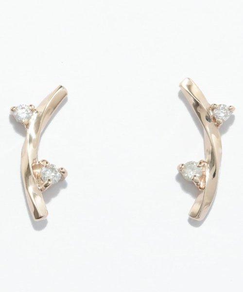 Phoebe(フィービィー)/【K10】ツイストダイヤモンドピアス/501911451_img03