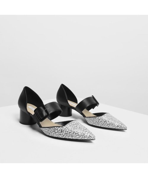CHARLES & KEITH(チャールズ アンド キース)/グリッターバックルディテール メリージェーン / Glittered Buckle Detail Mary Janes (Black)/CH1328BW11706_img02