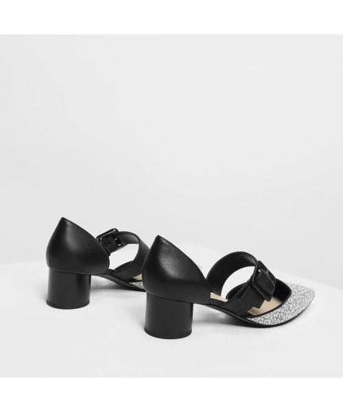 CHARLES & KEITH(チャールズ アンド キース)/グリッターバックルディテール メリージェーン / Glittered Buckle Detail Mary Janes (Black)/CH1328BW11706_img03