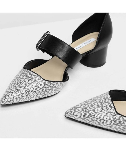 CHARLES & KEITH(チャールズ アンド キース)/グリッターバックルディテール メリージェーン / Glittered Buckle Detail Mary Janes (Black)/CH1328BW11706_img04