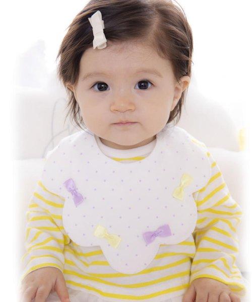 e-baby(イーベビー)/天竺リボンドットプリントスカラップスタイ/183411020_img07
