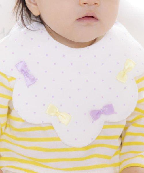 e-baby(イーベビー)/天竺リボンドットプリントスカラップスタイ/183411020_img08