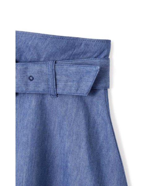 PROPORTION BODY DRESSING(プロポーション ボディドレッシング)/スプリングデニムべっ甲バックルフレアースカート/1219120407_img05
