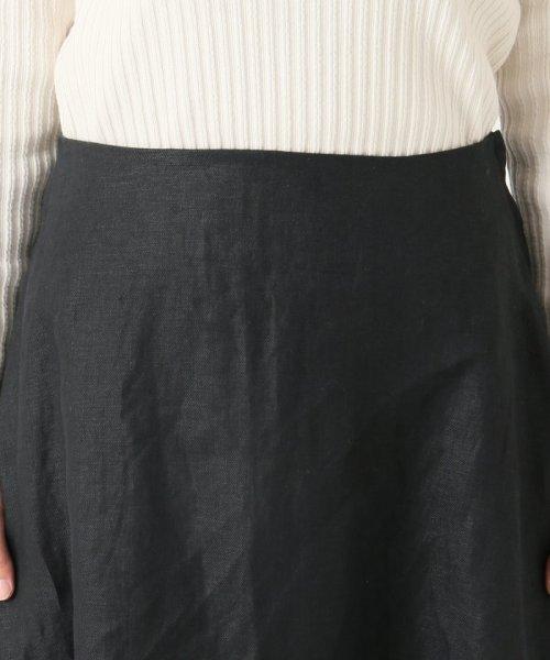 SLOBE IENA(スローブ イエナ)/《WEB限定》サイドニュアンスリネンフレアスカート◆/19060912700010_img10
