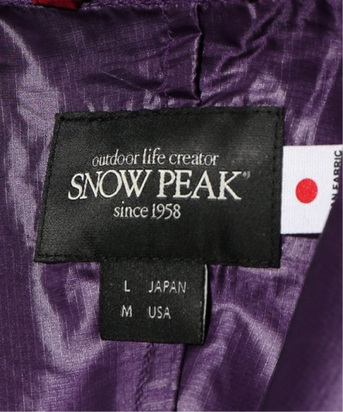 JOURNAL STANDARD relume Men's(ジャーナルスタンダード レリューム メンズ)/Snow Peak×relume / 別注スノーピーク アノラックパーカー/19011465005210_img19