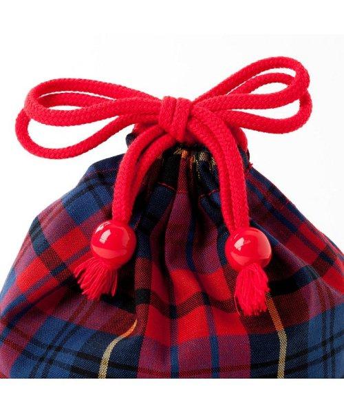 COLORFUL CANDY STYLE(カラフルキャンディスタイル)/巾着 小 コップ袋 タータンチェック・レッド×先染・赤/N3581700_img02