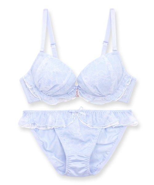 fran de lingerie(フランデランジェリー)/Twinkle Sheer トゥウィンクルシアー ブラ&ショーツセット B65-G75カップ/fb083p173c_img02