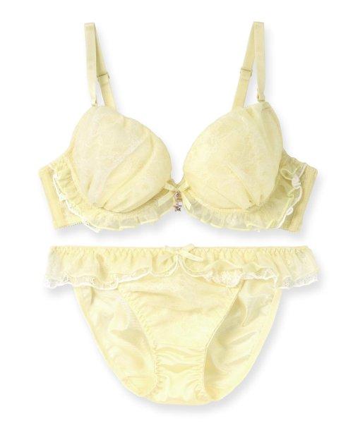 fran de lingerie(フランデランジェリー)/Twinkle Sheer トゥウィンクルシアー ブラ&ショーツセット B65-G75カップ/fb083p173c_img03