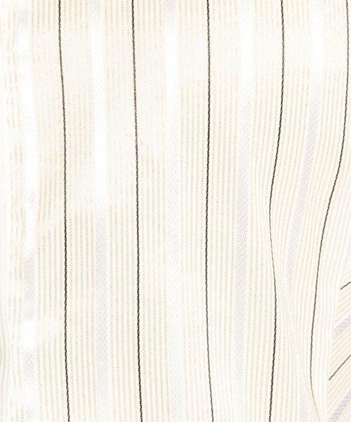 NARA CAMICIE(ナラカミーチェ)/イタリアン細ストライプスタンドカラー七分袖シャツ/109102010_img03
