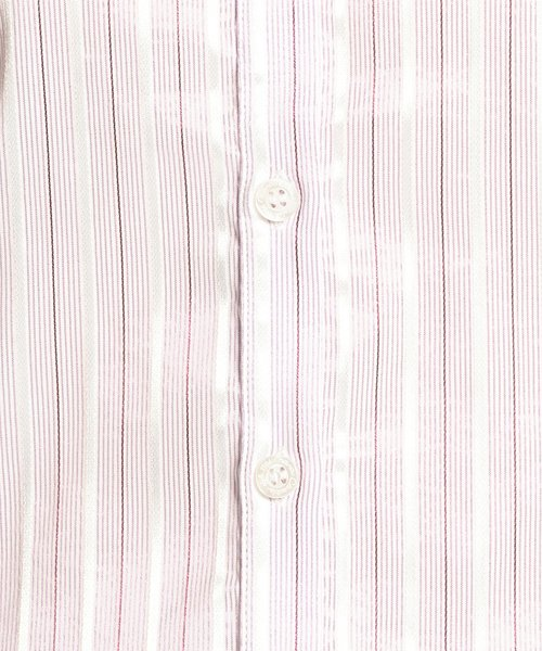 NARA CAMICIE(ナラカミーチェ)/イタリアン細ストライプスタンドカラー七分袖シャツ/109102010_img10