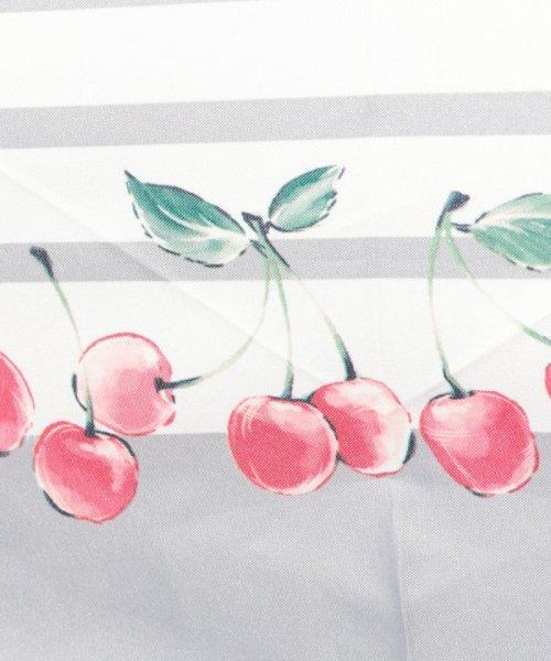 pink trick(ピンクトリック)/BE SUNNY ビーサニー スリム3段折りたたみ傘 チェリーボーダー ポーチ付  (晴雨兼用 UVカット 紫外線カット 耐風 軽量 撥水)/87389_img04