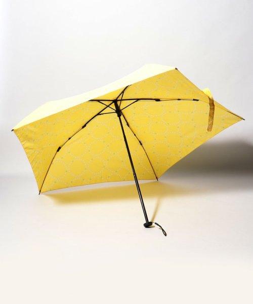 pink trick(ピンクトリック)/BE SUNNY ビーサニー スリム3段折りたたみ傘 サークルフラワー ポーチ付  (晴雨兼用 UVカット 紫外線カット 耐風 軽量 撥水)/87393_img01