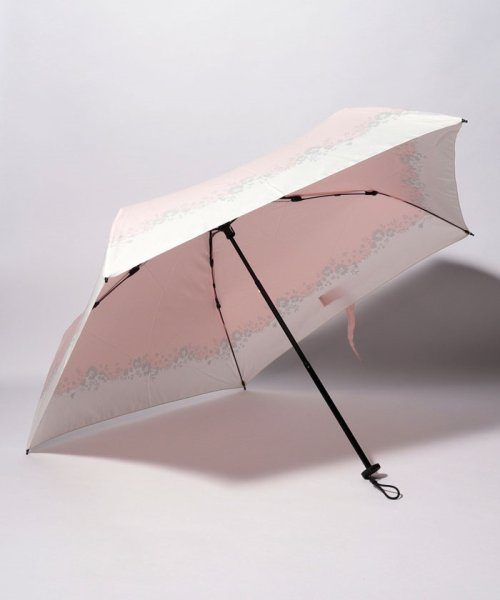 pink trick(ピンクトリック)/BE SUNNY ビーサニー スリム3段折りたたみ傘 フラワークラウン ポーチ付  (晴雨兼用 UVカット 紫外線カット 耐風 軽量 撥水)/87396_img01