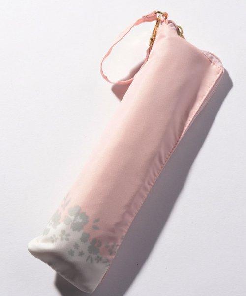 pink trick(ピンクトリック)/BE SUNNY ビーサニー スリム3段折りたたみ傘 フラワークラウン ポーチ付  (晴雨兼用 UVカット 紫外線カット 耐風 軽量 撥水)/87396_img02