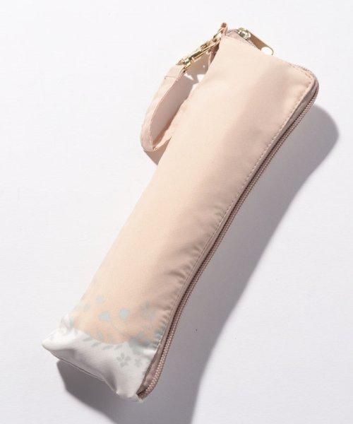 pink trick(ピンクトリック)/BE SUNNY ビーサニー スリム3段折りたたみ傘 フラワークラウン ポーチ付  (晴雨兼用 UVカット 紫外線カット 耐風 軽量 撥水)/87398_img02