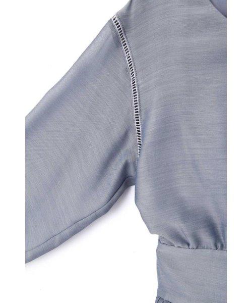 PROPORTION BODY DRESSING(プロポーション ボディドレッシング)/エアリーシャンブレーリボンワンピース/1219140315_img17