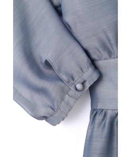 PROPORTION BODY DRESSING(プロポーション ボディドレッシング)/エアリーシャンブレーリボンワンピース/1219140315_img19