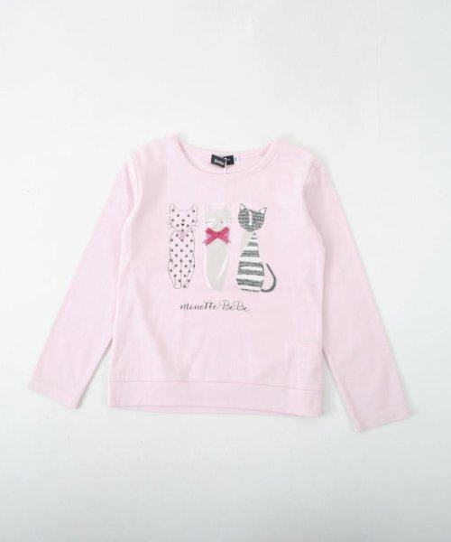 BeBe(ベベ)/ネコプリントTシャツ/111511527_img01